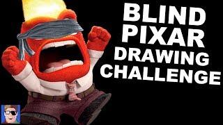 J vs Ben: Blind PIXAR Drawing Challenge