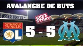 Lyon 5-5 Marseille  Tout les Buts avec les Commentaires Canal + (08/11/2009) HD