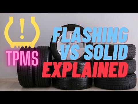 ▶️Understanding The TPMS Light ( Tire Pressure Monitoring System Solid Light vs Flashing Light )