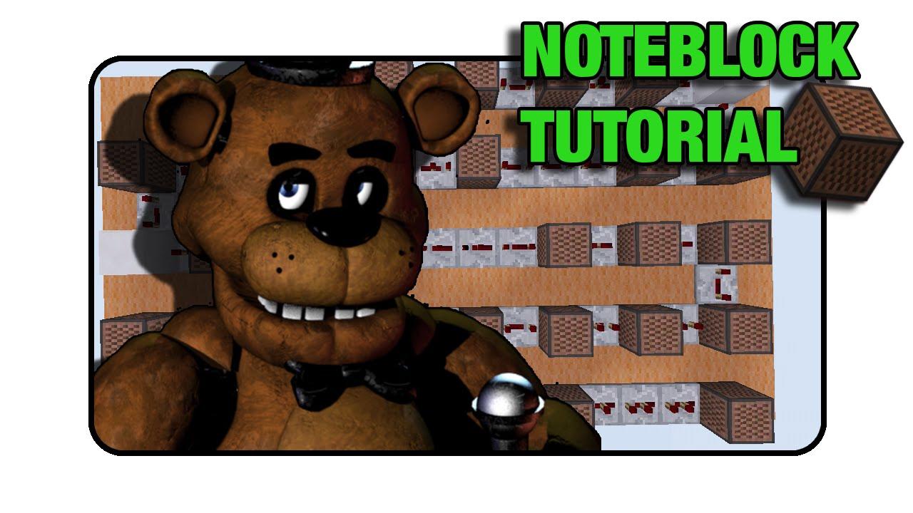 "5 Nights At Freddy's ""Freddy Fazbear Theme"" Doorbell - ""Note BlockTutorial"" (Minecraft)"