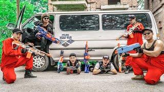 LTT Game Nerf War : Patrol Police Warriors SEAL X Nerf Guns Fight Rocket Crazy Avenger Teammates