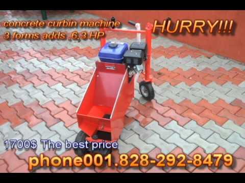 manual curbing machine