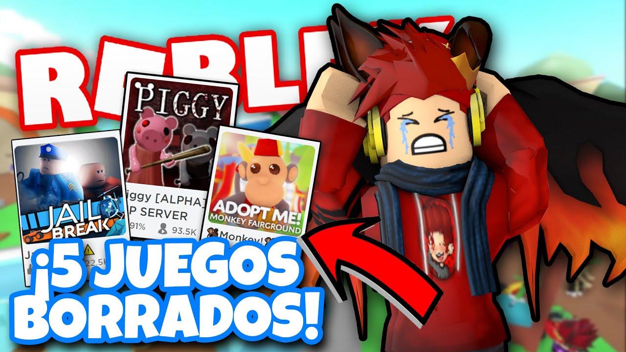 TOP 5 JUEGOS EPICOS QUE ROBLOX BORRÓ 😭   ROBLOX - YouTube
