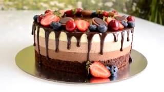 Торт три шоколада Муссовый торт