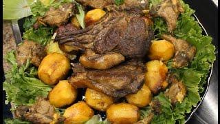 Картошка с мясом в казане.(Конина.баранина)