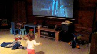 Daughter dances herself dizzy for Craigyferg