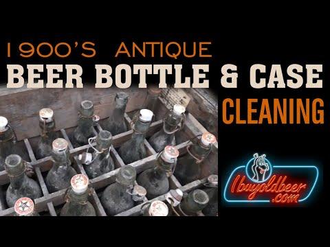 Cleaning a 1915 Jacob Schmidt Beer Case/Bottles in St. Paul, Minnesota - I Buy Old Beer