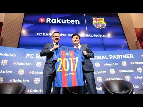 FC Barcelona presents Rakuten as main global sponsor