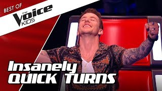 TOP 10 | QUICKEST Chair TURNS in The Voice Kids