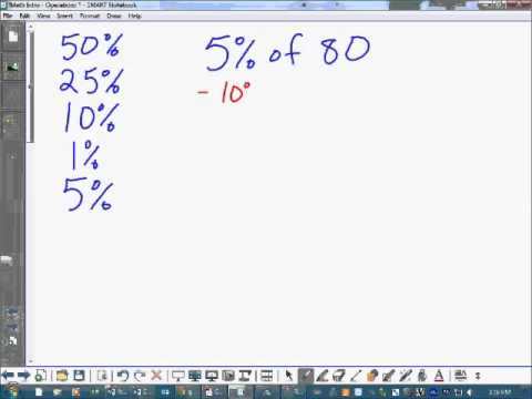 Chapter 4 Calculating Percent Mentally 1%, 5%, and Combinations