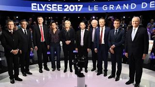 France's second presidential TV debate  11 candidates face off