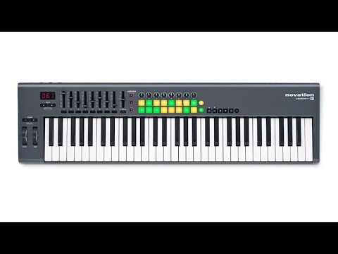 novation launchkey 61 key midi keyboard controller with synth weighted keys 50 hardware. Black Bedroom Furniture Sets. Home Design Ideas