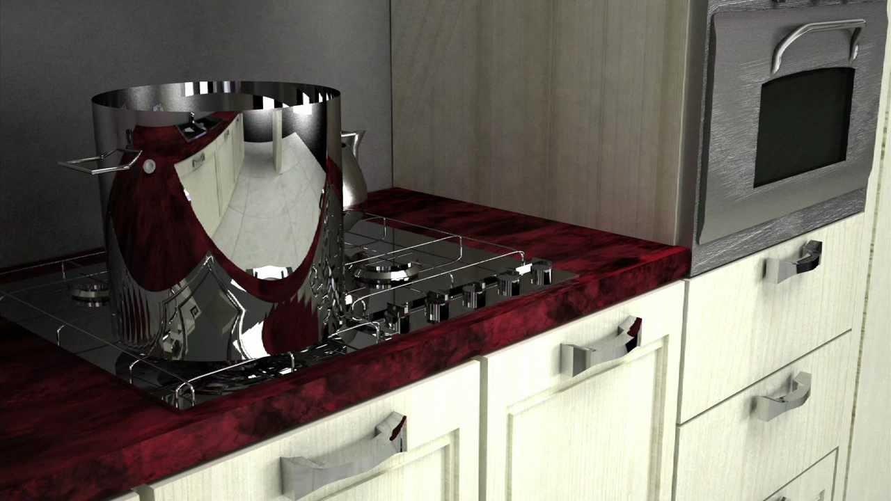 progetto cucina 3D - YouTube