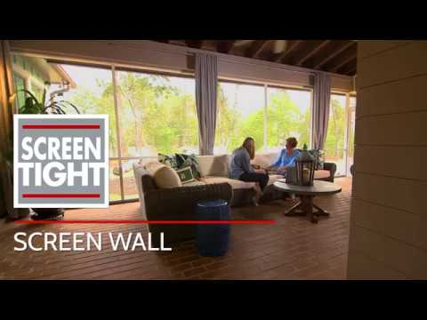 Screen Wall Porch Framing & Screening System