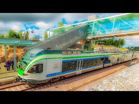 Riding The Vantaa Express, Helsinki Airport To Helsinki Central Station