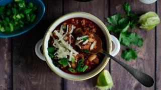 Chipotle White Bean Turkey Chili Recipe