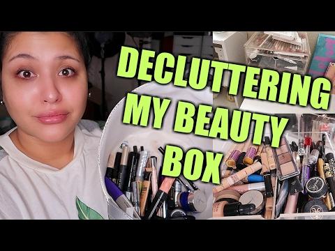 DECLUTTERING MY BEAUTY BOX!