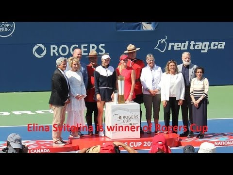 2017 Rogers Cup Finals. Elina Svitolina v Caroline Wozniacki.