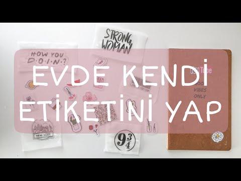 Sticker Yapımı | Evde Kendi Etiketini Yap / 2 Farklı Kolay Yöntem | Şeffaf Stick