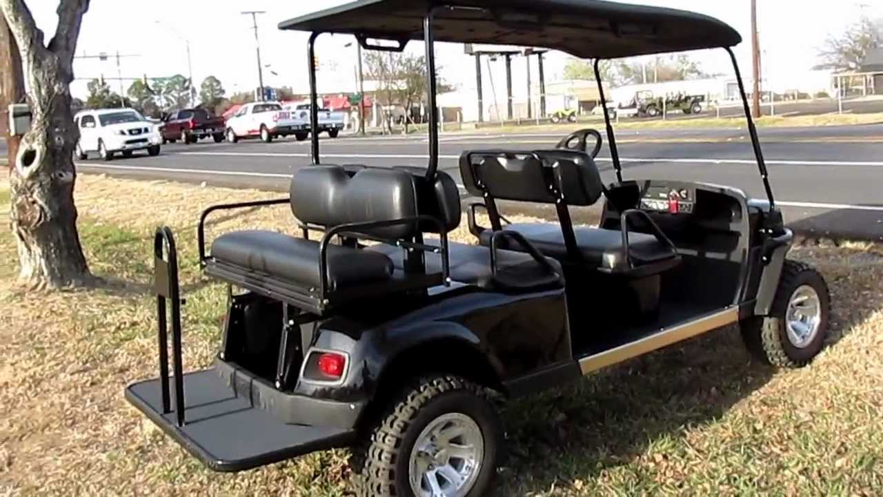 small resolution of ez go golf cart kawasaki gas motor lift kit hard top six passenger lights alloy wheels youtube