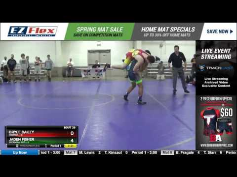 152 Bryce Bailey Indiana vs Jaden Fisher Michigan Red 8388298104