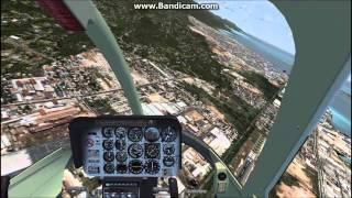 Bell 206 Jetranger 360 autorotation [FSX]