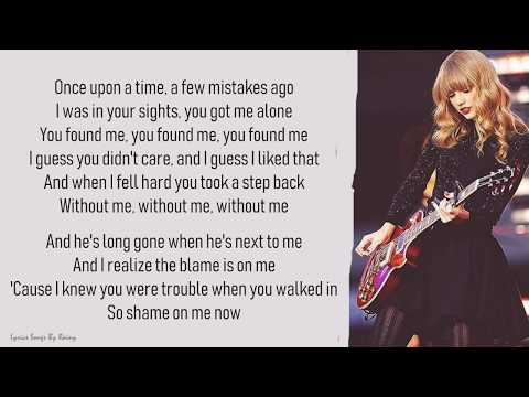 Taylor Swift - I Knew You Were Trouble | Lyrics Songs