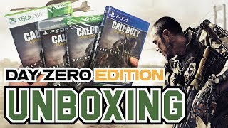 Call of Duty Advanced Warfare Day Zero Edition Unboxing !! ( PS3 / PS4 / Xbox 360 / Xbox One)