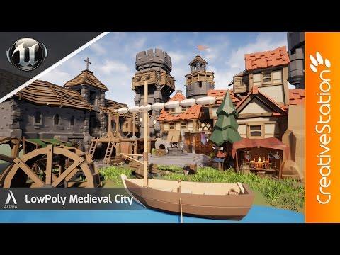 Medieval City - 3D Speed art (#UnrealEngine )   CreativeStation
