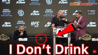 Why Khabib Don't Drink Alcohol  | Khabib vs Conor Mcgregor Press Conference