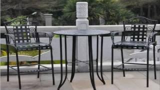 Outdoor Bistro Set - 3 Piece Patio Furniture Set Black Anti