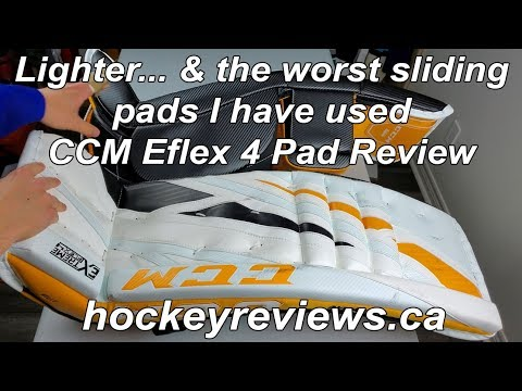 The Worst Sliding Pads I Have Used... But Lighter Than Ever Before! CCM Eflex 4 Pad Review