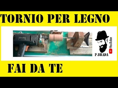 Tornio per legno fai da te by paolo brada diy youtube for Pressa fai da te