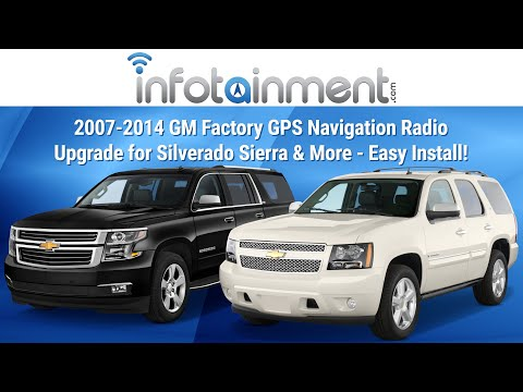 2007-2014 GM Factory GPS Navigation Radio Upgrade for Silver