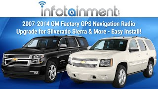 2007-2014 GM Factory GPS Navigation Radio Upgrade For Silverado Sierra & More - Easy Install!
