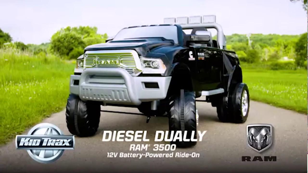 Kid Trax Ram 3500 Sel Dually 12 Volt Ride On Toy Car