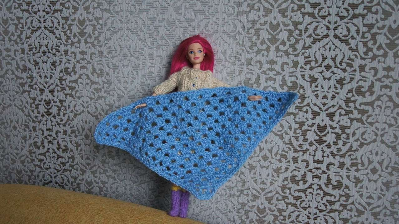 How To Crochet A Shawl For Barbie Diy Crafts Tutorial
