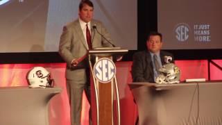 South Carolina head coach Will Muschamp at SEC Media Days - FULL Press Conference thumbnail
