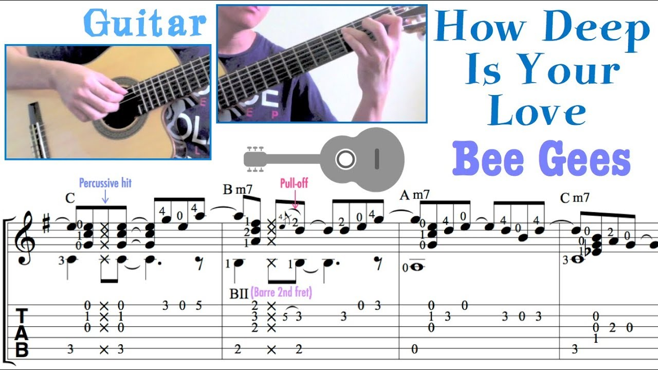 How Deep Is Your Love Bee Gees Guitar Youtube