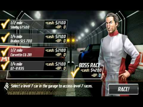 Drag Racing : Level 6 Boss (Novitec Rosso 599 GTB - Not Best Time  Possible)Android Platform