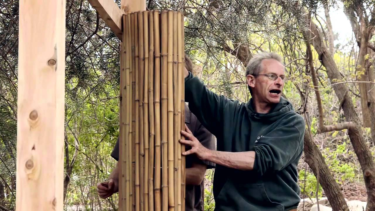 How To Install A Framed Bamboo Friendly Fence Youtube