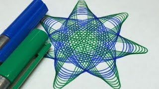 Neutron Star Inspired Blue and Green Design | Spirograph