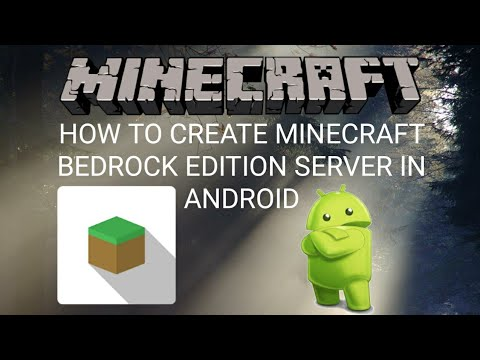 How to create minecraft bedrock edition server in android