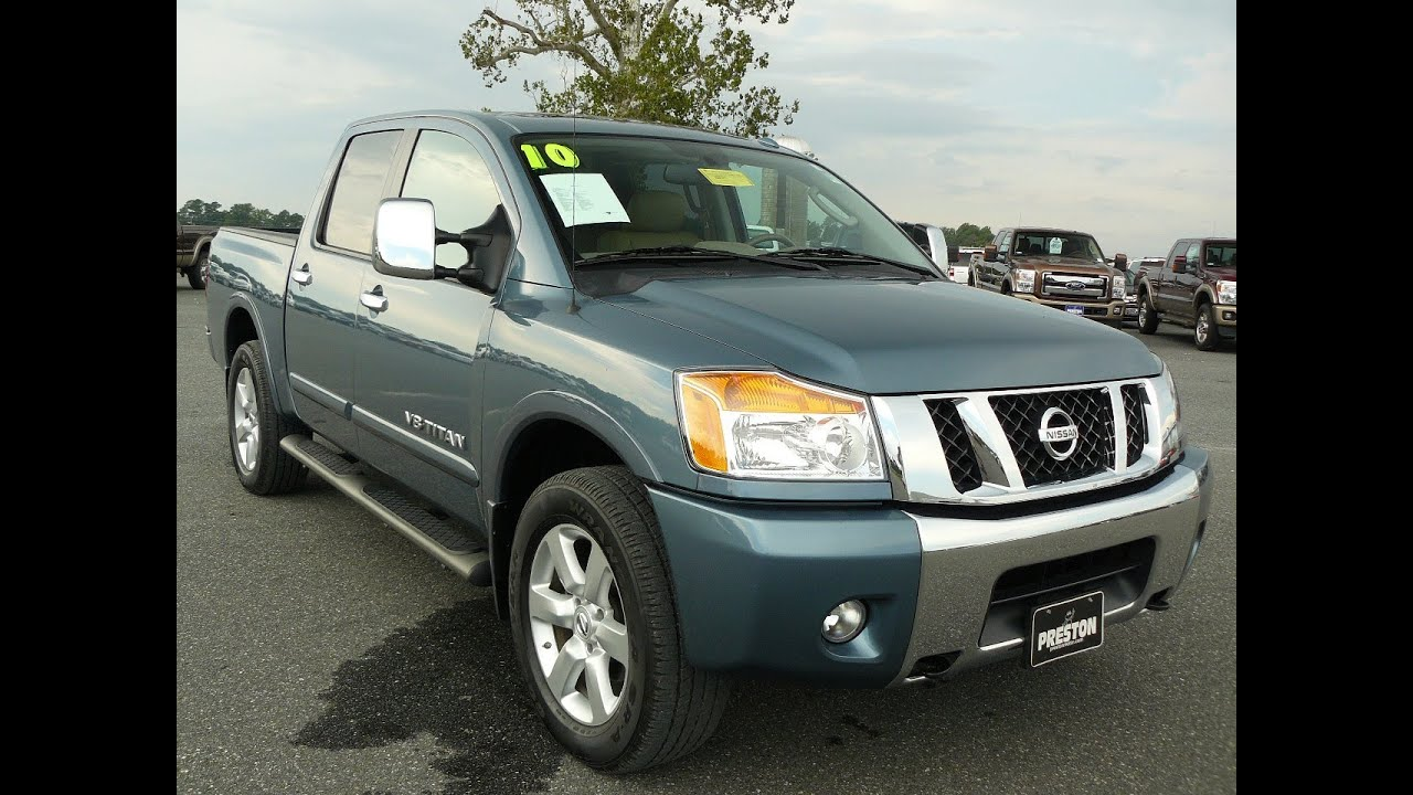 used truck maryland for sale 2010 nissan titan le 4wd crew. Black Bedroom Furniture Sets. Home Design Ideas