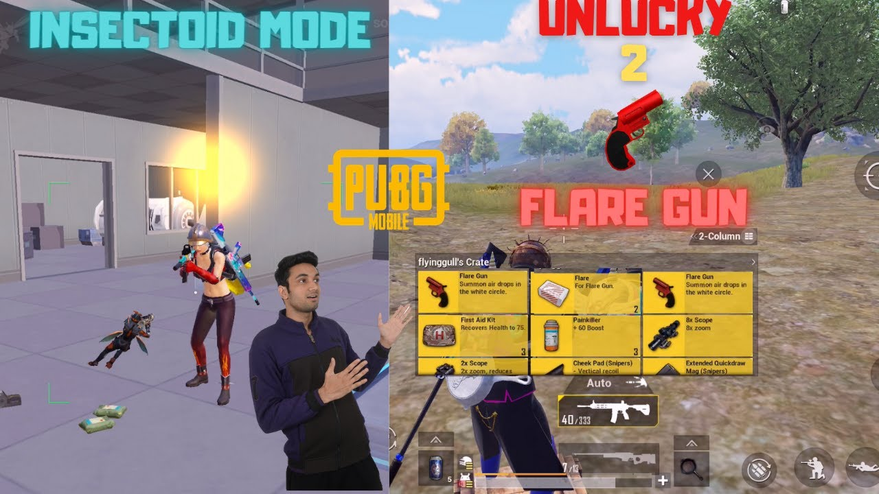 I Got 2 Flare Gun But I Can't Use Them New Traverse Insectoid Mode Flare Gun Pubg