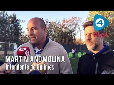 Quilmes: Molina presentó el programa Mujeres al Frente