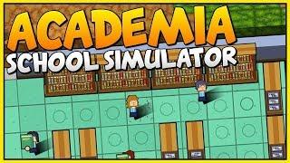 مدرسة الزاحفين | هذي المدرسه ولا بلاش!! Academia school simulator #1