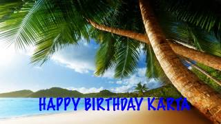 Karta  Beaches Playas - Happy Birthday