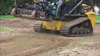 Demostration of a power rake