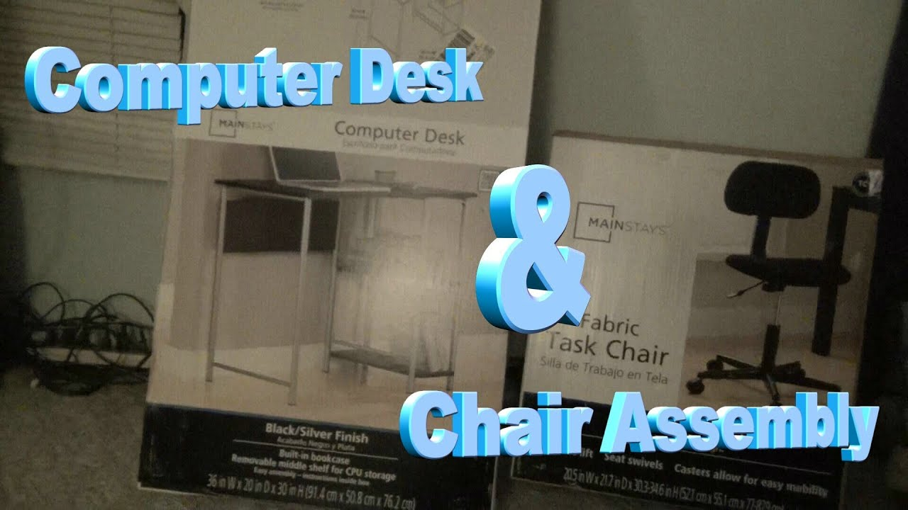 Mainstays Task Chair Assembly Instructions Mainstay